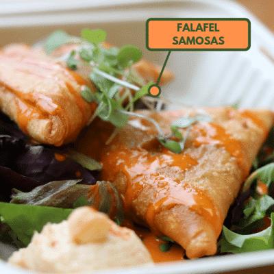 Egyptian falafel samosa