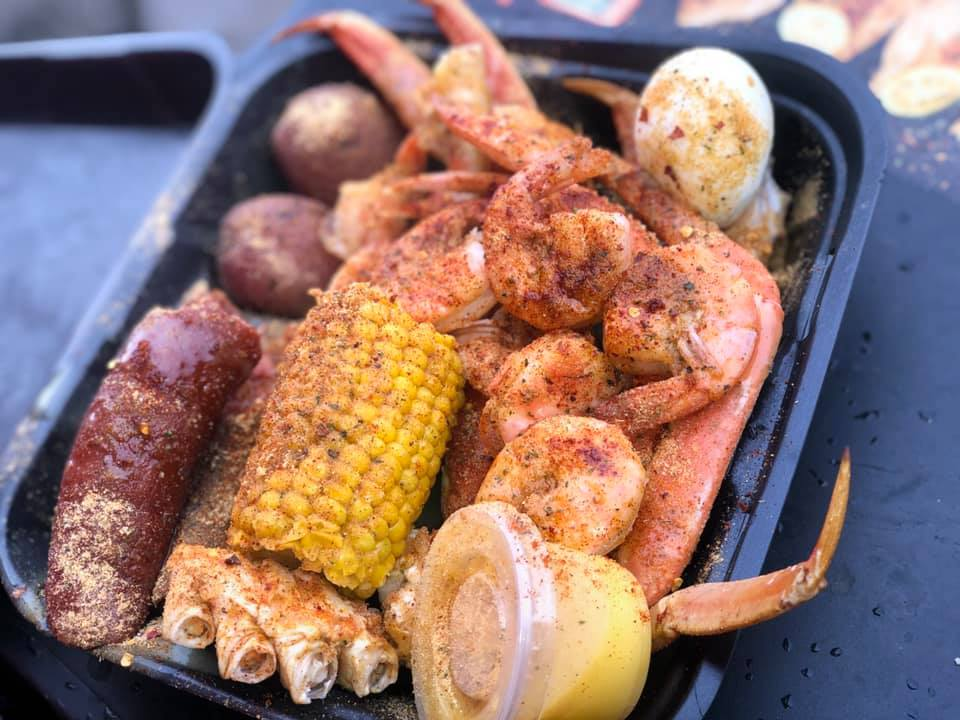 food from the boil seafood truck