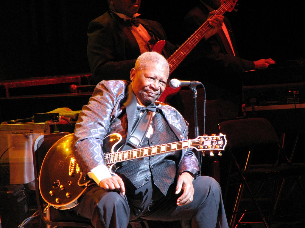 BB King on stage in Toronto