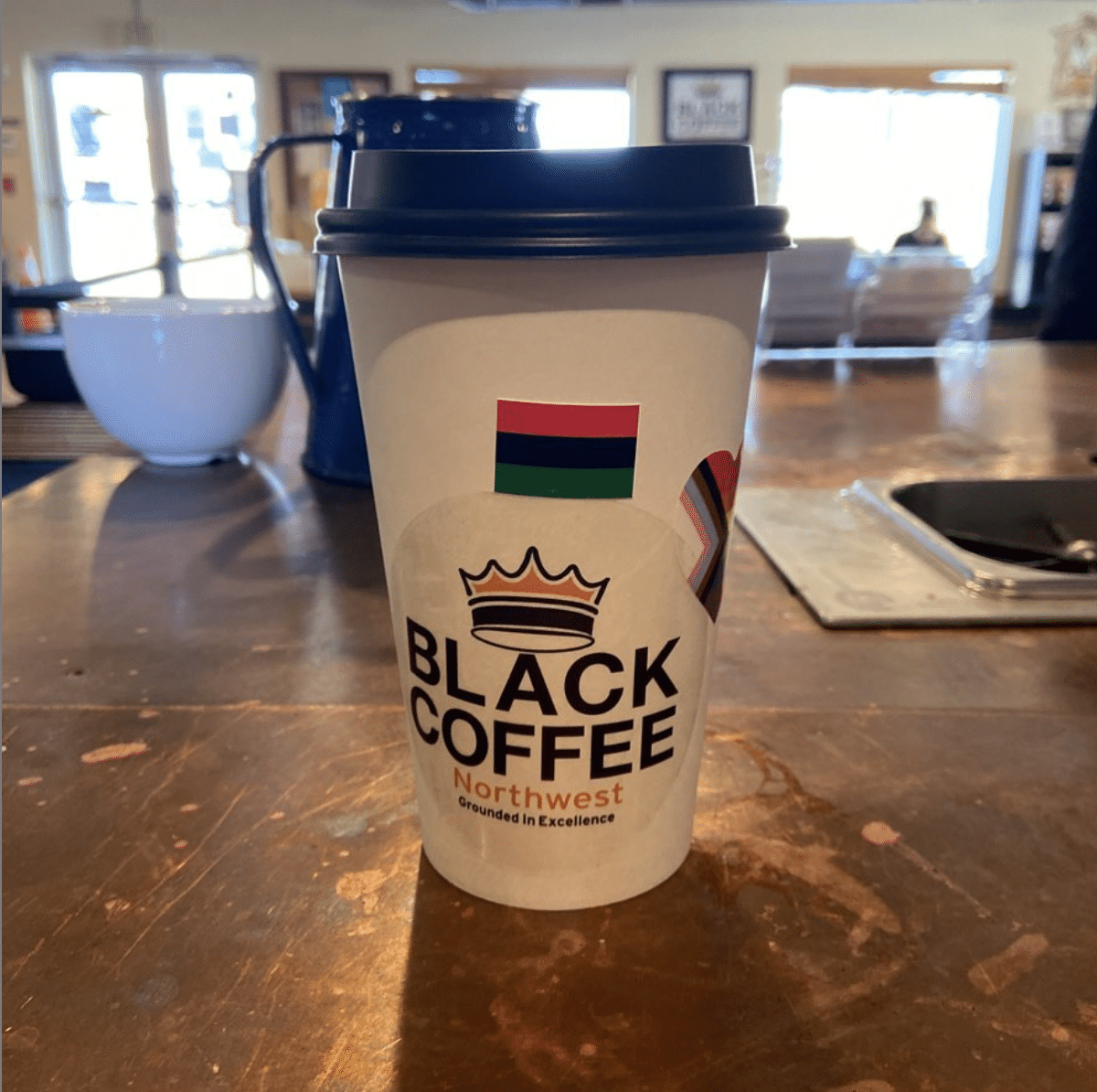 Coffee cup from Black Coffee Northwest