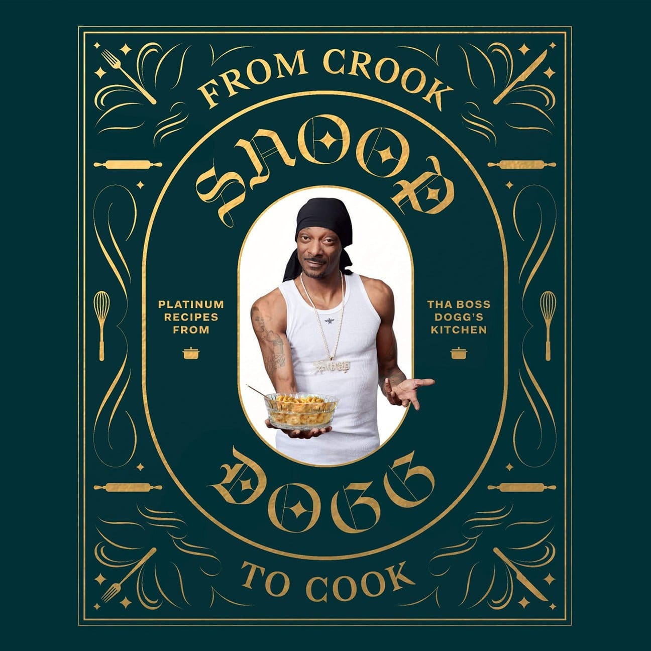 """Cover of Snoop Dog's """"From Crook to Cook"""" cookbook"""