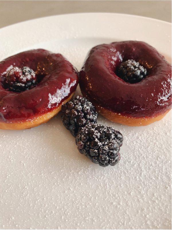 Vegan blackberry donut