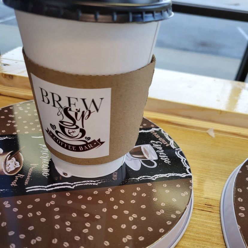 To go cup from Brew and Sip