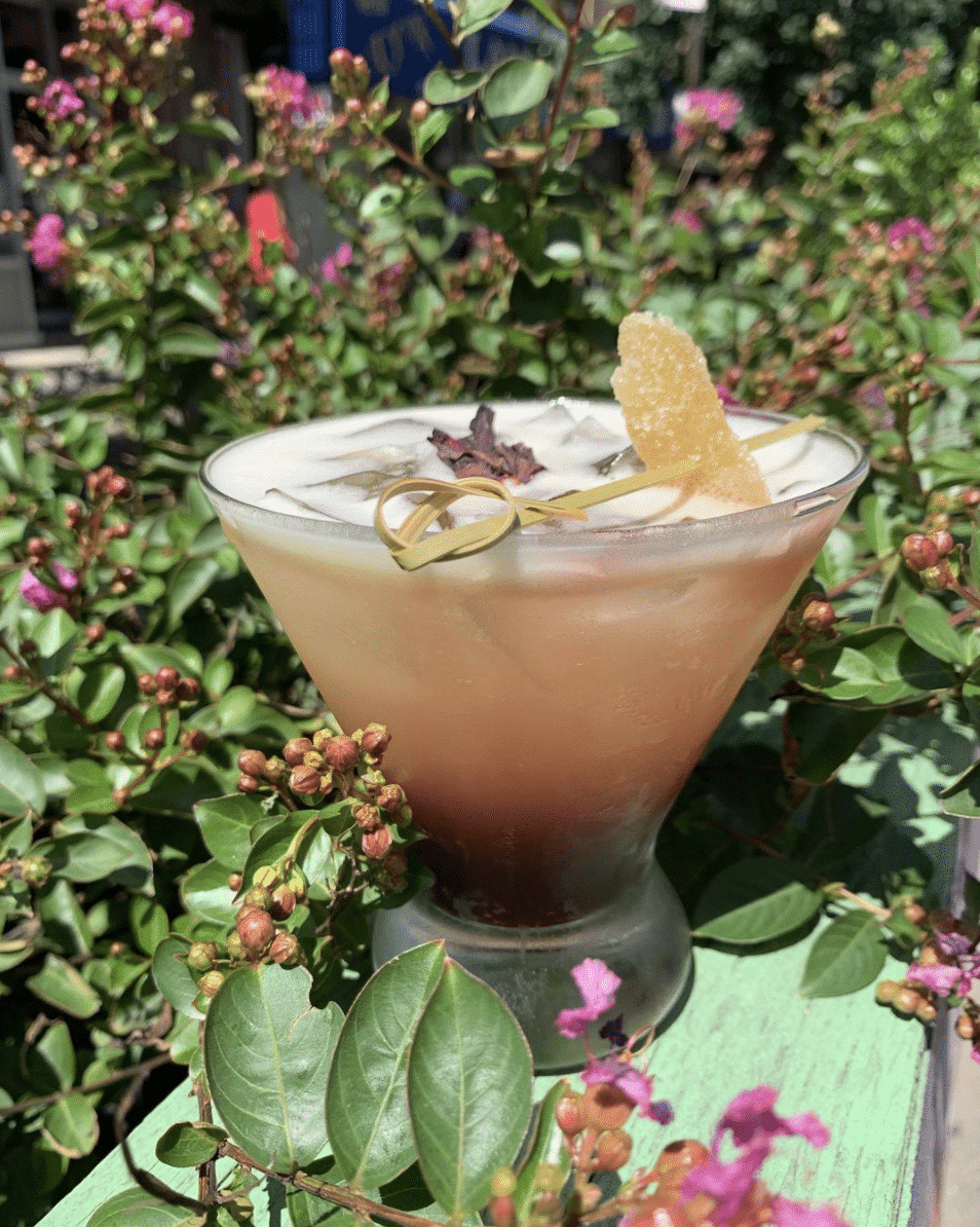 craft cocktail from Roger's Garden