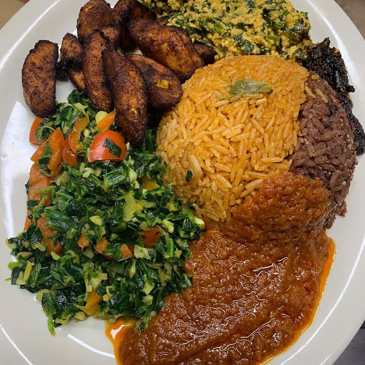 Nigerian food from Appioo Bar and Grill