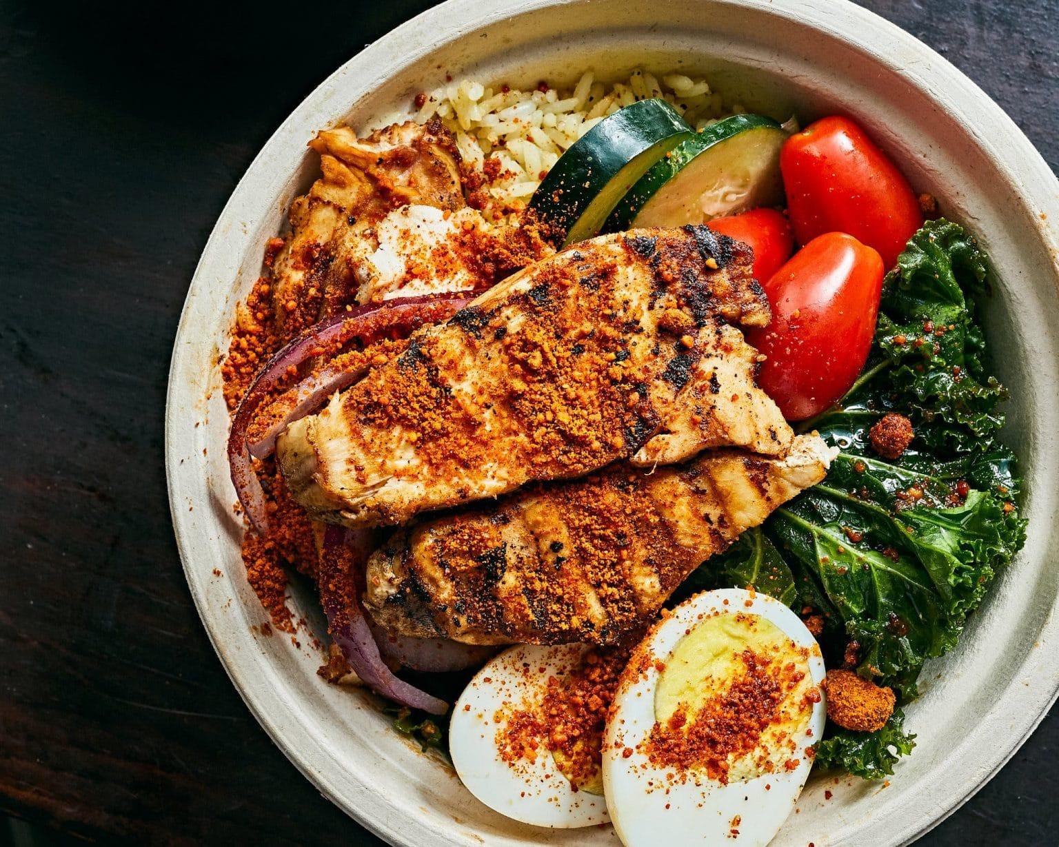 Best Nigerian food from Brooklyn Suya in New York.