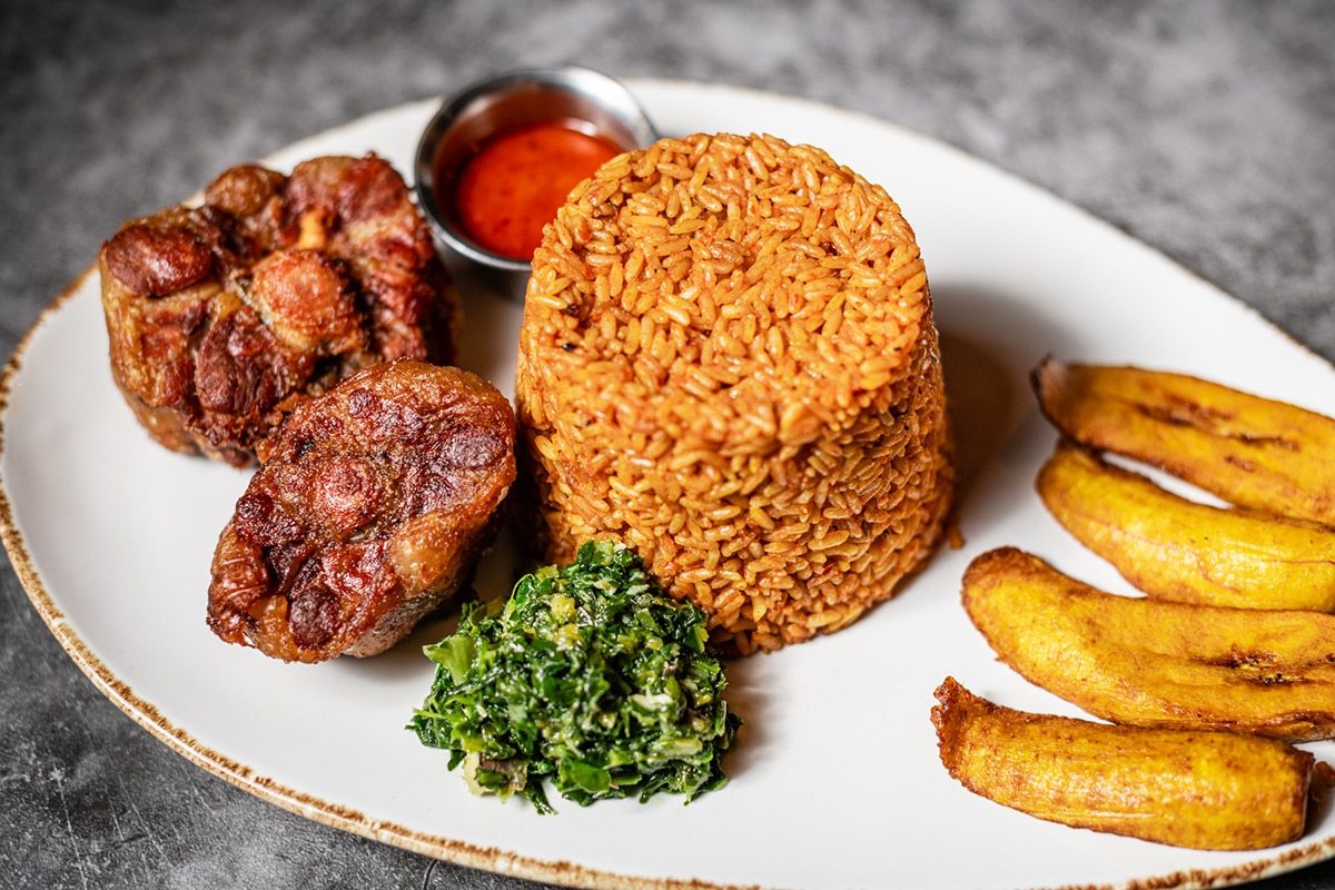 Food from Taste of Nigeria Restaurant